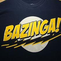 Bazinga T Shirt Medium Tee the Big Bang Theory Sheldon Cooper Cbs Tv Comedy Photo
