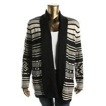 Bb Dakota 9870 Womens Christie B/w Knit Cardigan Sweater Jacket Plus 2x Bhfo Photo