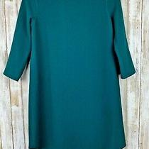 Bb Dakota Anthropologie Teal Blue Green Low Back Tunic 3/4 Sleeve Dress S Small Photo