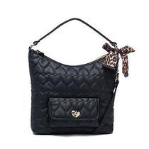 Bb14720 Betsey Johnson Womens Be My Hobo Bag Black One Sz Photo