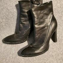 Bcb Girls Womens Boots Black High Heel Size 9b (39) Excellent Condition Photo