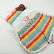 Bcbg 2-Pc Girl's Youth Lounge Set Shirt/shorts Egret/white Size L-14/16 Photo