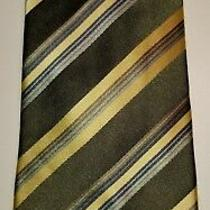 Bcbg//attitude - Olive Striped Silk Necktie  Photo