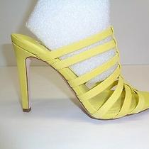 Bcbg Bcbgeneration Size 7 M Callie Yellow Leather Dress Sandals New Womens Shoes Photo