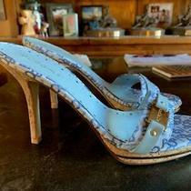 Bcbg Bcbgirls Size 8.5 Cork Stiletto High Heels Mules Strapless Photo
