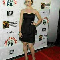 Bcbg Bcbgmaxazria Dress Tiered Strapless Peplum Skirt 358 Sz 2 Photo