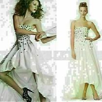 Bcbg Bcbgmaxazria Gown Strapless Taffeta Gardenia Dress Embellished Wedding 2 Photo