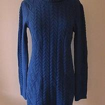 Bcbg Bcbgmaxazria Nina Cable Sweater Dress  Navy Blue Dark Ink  Nwt S 4 6 248 Photo