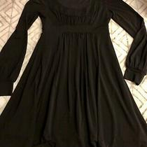 Bcbg Black Boho Hippie Pleated Grecian Long Sleeve Goth Gypsy Punk Rock Dress M Photo