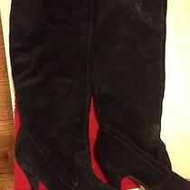 Bcbg Black Boots Suede Photo