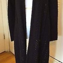 Bcbg Black Cable Knitted Sweater Photo