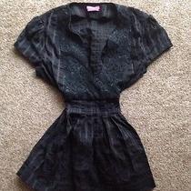 Bcbg Black Medium Black Strip Shirt M  Photo