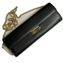 Bcbg Black Purse Carlie Clutch W/gold Chain Nwt Bcbgeneration Photo