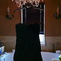 Bcbg Black Strapless Taffeta Party Dress Size 8 Photo