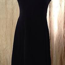Bcbg Black Velvet Dress Medium Photo