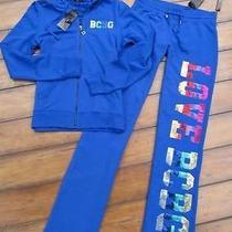 Bcbg  Brand New Sz Small  Blue Rainbow Sequin Hoodie Pants Tracksuit Set Photo
