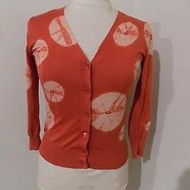 Bcbg Brick With Blush Designs Cardigan Sweater Xsmall Euc  Photo
