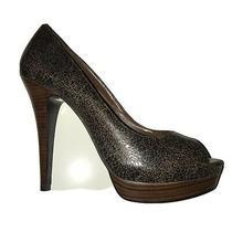 Bcbg Brown Print High Stiletto Heels  Size 9 Photo
