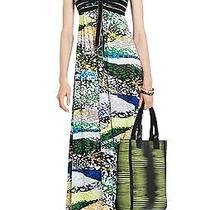 Bcbg Cybele Long Strapless Knit Maxi Dress Gown Multicolor Print - Us S Photo
