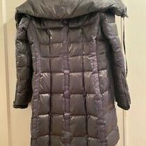 Bcbg Down Puffer Coat Gunmetal Grey Size M Pre-Owned Good Condition Photo