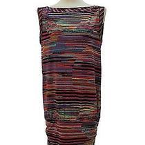 Bcbg Drop Waist Fun Zig Zag Striped Dress Size M Photo