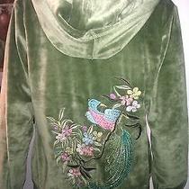 Bcbg Embroidered Bird Hoodie - Size Large Photo