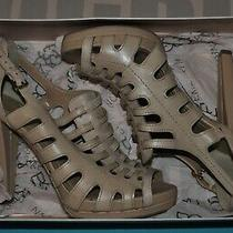 Bcbg Eneration High Heel Strappy Leather Sandals Women's Sz 8 8m Photo