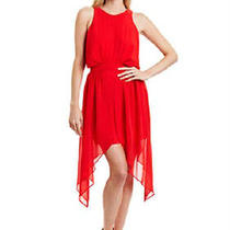 Bcbg Generation Assymetrical Hem Red Dress New Size 4 Photo