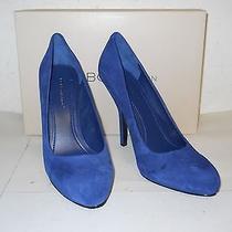 Bcbg Generation Bcbgeneration New Womens Lamour Blue Suede Heels 8.5 M Shoes Nwb Photo