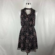 Bcbg Generation Black Floral Print Dress Womens Size Xs (Ll14) Photo