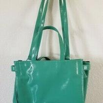Bcbg Generation Large Travel Tote Textured Shoulder Bag Handbag Blue Green Teal Photo