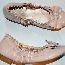 Bcbg Generation Lauryn New Sz 8 B Beige Nude Patent Bow Ballet Flats Skimmers Photo