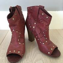 Bcbg Generation Maroon Booties - Size 8.5 Photo