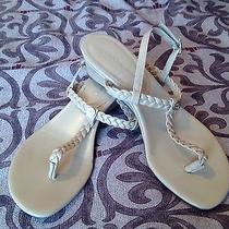 Bcbg Generation Open Toe Wedge Beige Shoes Sz 6 Women's Photo