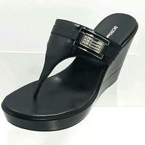 Bcbg Generation Sandals - Women's Size 9.5 Wedge Black Leather New Photo