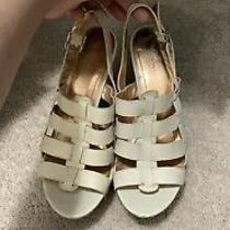 Bcbg Generation Shoes Wedge Beige Tan Size 9 Leather Photo