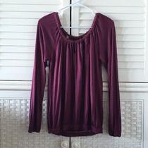 Bcbg Generation Size Small S Purple Long Sleeve Shir Top Keyhole  Photo