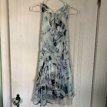 Bcbg Generation Sz 2 Flowy Blue Dress Photo