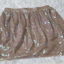 Bcbg Generation Sz 4 Sequin Skirt Tan Photo