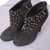 Bcbg Generation Women's Black Suede Studded Booties Shoes Sz 9 B Photo