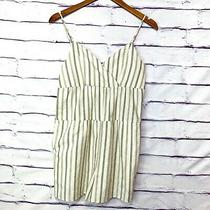 Bcbg Generation Women's Cream Striped Shorts Romper Jumper Nwt Size Small Photo