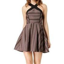 Bcbg Generation Womens Dress Black Size 8 a-Line Fit & Flare Halter 108 224 Photo