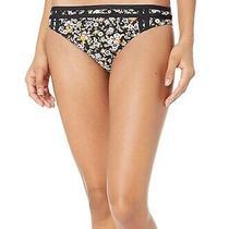 Bcbg Generation Womens Swimwear Black Size Xs Dizzy Floral Bikini Bottom 54 316 Photo