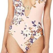 Bcbg Generation Womens Swimwear Pink Size Small S Floral Ring One Piece 120 159 Photo