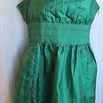 Bcbg Girls Green Taffeta Top Blouse Size L Photo