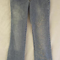 Bcbg Girls Jeans Bling Flare Legs Blue Girl's Size See Measurements Photo