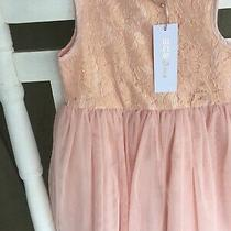 Bcbg Girls Peach Dress Organza Overlay Size 4 Wedding Church Formal Photo