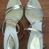 Bcbg Gold Sandal Heels Photo