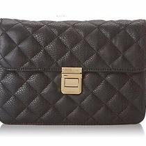 Bcbg Handbag Quilted Clutch Flap Bag Convertible With Hand Strap New Nwt Photo
