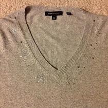 Bcbg Holiday Sweater Size M Diamond Sequin Detail Photo